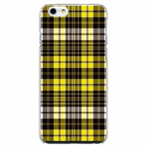 iPhone6 Plus機種専用 スマホケース ARCデザイン 30246 チェック柄 イエロー かわいい スマホカバー iPhone iPod