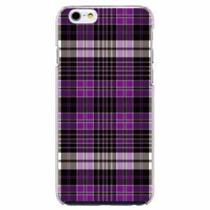 iPhone6 Plus機種専用 スマホケース ARCデザイン 30249 チェック柄 パープル かわいい スマホカバー iPhone iPod