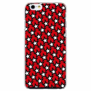 iPhone6 Plus機種専用 スマホケース ARCデザイン 30251 スター 星 パターン柄 レッド スマホカバー iPhone iPod