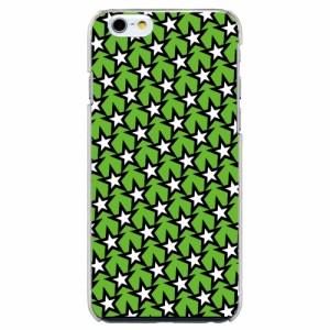 iPhone6 Plus機種専用 スマホケース ARCデザイン 30252 スター 星 パターン柄 グリーン スマホカバー iPhone iPod