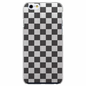 iPhone6 Plus機種専用 スマホケース ARCデザイン 30256 市松模様 チェッカー ブラック スマホカバー iPhone iPod