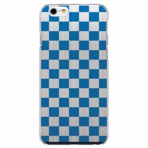 iPhone6 Plus機種専用 スマホケース ARCデザイン 30257 市松模様 チェッカー ブルー スマホカバー iPhone iPod