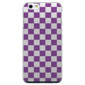 iPhone6 Plus機種専用 スマホケース ARCデザイン 30260 市松模様 チェッカー パープル スマホカバー iPhone iPod