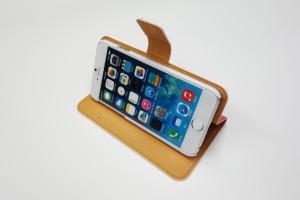 スカラー 60038-bl スマホケース iPhone iPod Touch 手帳型 ケース ブックレット ダイヤリー メルヘン お花 スカラコ りんご ピンク かわ