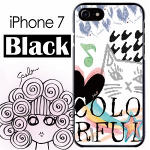 スカラー/50181/スマホケース/スマホカバー/iPhone7/ブラックタイプ/アイフォン/アート 猫柄 ハート かわいい ファッションブランド