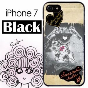 スカラー/50191/スマホケース/スマホカバー/iPhone7/ブラックタイプ/アイフォン/猫柄 グランジペーパー かわいい ファッションブランド