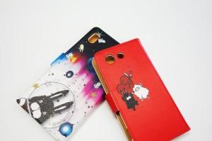 iPhone7-Plus専用 スカラー 手帳型ケース 60077-bl ScoLar マリオ ゲーム キノコ キャラ ラビル フクミン スカラコ フリップ ブックレッ