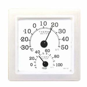 温湿度計クリア・ミニホワイト/CRECER/測定具/温度計・他/CR−12W