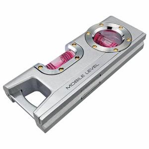レベル 水平器 v字溝 アルミ シルバー (長さ120)[水平 垂直 測定器 測量機器]