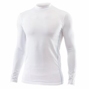 冷感インナー メンズ ハイネック 長袖 白色 3Lサイズ(身長182188cm/胸囲101107cm)