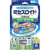 白元アース ミセスロイドクローゼット用3個入 1年防虫 ×30個【イージャパンモール】の画像