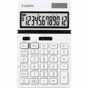 CANON ビジネス電卓 KS?1220TU?WH フリーアングルチルト&大画面 12桁 卓上タイプ ホワイト 1台