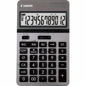 CANON ビジネス電卓 KS?1220TU?SL フリーアングルチルト&大画面 12桁 卓上タイプ シルバー 1台