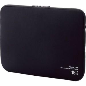 ELECOM ネオプレンPCインナーバッグ 15.6インチノートPC対応 ブラック 1個