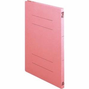 ライオン事務器 2サイズフラットファイル A4タテ 150枚収容 背幅18mm ピンク 1冊