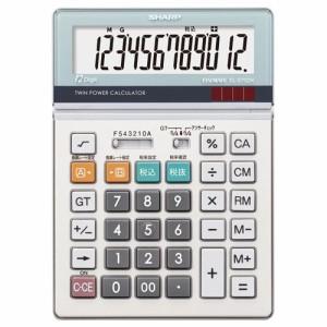 シャープ 実務電卓 12桁 セミデスクタイプ 1台