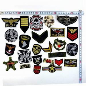 ◎ 福袋刺繍ワッペンセット ミリタリー中心 画像の25枚セット WM-16 中身が見える福袋セット エンブレム勲章等いろいろ