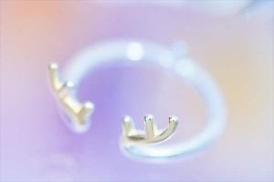 シカ 角 トゥー リング 指輪 ジュエリー レディース イエロー ゴールド シンプル フリーサイズ