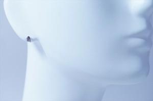 ふっくら葉柄デザイン パステルピンク&パープルキュービックジルコニア ジュエリー系スタッドピアス