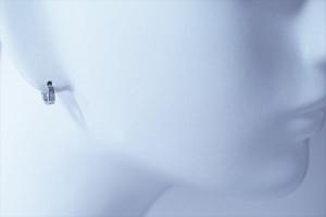 シンプルフラット型 シルバーコーティング ジュエリー系 ワンタッチフープピアス【2mm幅or3mm幅】