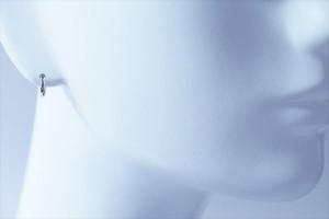 シンプル甲丸型 シルバーコーティング ジュエリー系 ワンタッチフープピアス【S/M/Lサイズ】
