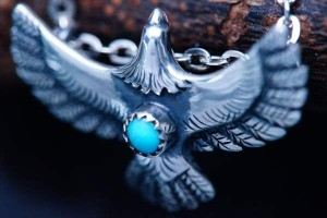 インディアンジュエリー 天然石 ターコイズ イーグル 鷲 メンズ シルバー ネイティブアメリカン ペンダント ネックレス