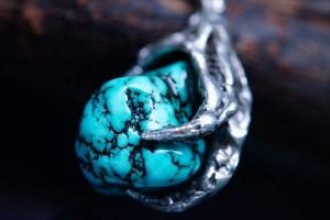 インディアンジュエリー イーグル 鷲 天然石 爪 ネイル ターコイズ ネイティブアメリカン メンズ シルバー925 ネックレス