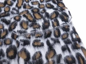 【送料無料】【中古】ルイヴィトン コート レオパード ウール モヘヤ ロングコート レディースサイズS LOUIS VUITTON ヴィトン 服