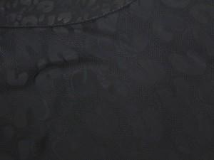 【送料無料】【中古】ルイヴィトン ワンピース レオパード ブラック 半袖 インナーキャミソール付 サイズ34 LOUIS VUITTON 服