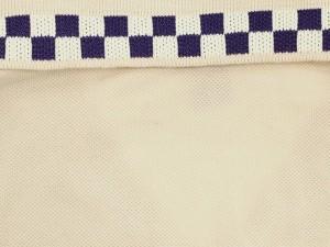 【送料無料】【中古】ルイヴィトン ワンピース ポロシャツ ダミエ アズール柄 ウエストリボン レディースサイズ34 LOUIS VUITTON 服 半袖