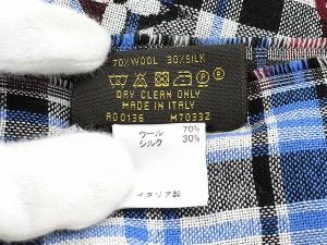 【送料無料】【中古】ルイヴィトン ストール エトール・モノグラム タータン チェック柄 ウール シルク M70332 LOUIS VUITTON ヴィトン