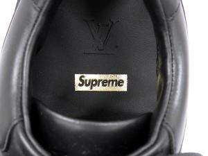 ルイヴィトン スニーカー シュプリーム コラボ Run Away Sneaker 1A3EPD LOUIS VUITTON Supreme 限定 レア 靴 メンズサイズ6 1/2