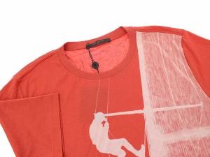 【送料無料】【中古】ルイヴィトン Tシャツ コットン カットソー メンズサイズXXL LOUIS VUITTON メンズ 服 半袖 クルーネック プリント