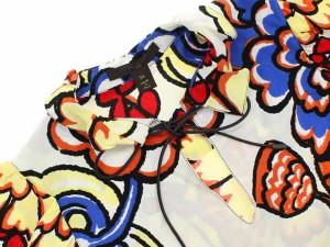 【送料無料】【中古】ルイヴィトン ブラウス 花柄 フリル レディースサイズ34 LOUIS VUITTON ヴィトン レディース 服 フラワー