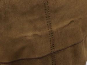 ルイヴィトン ワンピース レディースサイズ34 LOUIS VUITTON 服 半袖 スエード ベルト付き モノグラム