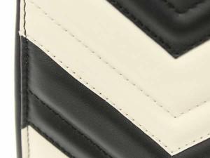 【送料無料】【中古】グッチ ハンドバッグ GGマーモント キルティング レザー 448054 GUCCI バッグ バイカラー 2WAYショルダーバッグ