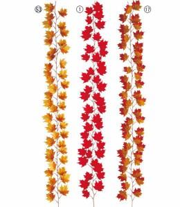 ハロウィン造花 フラワー 観葉植物 メープルガーランド(44)  [LEGA5139]【フェイク グリーン 資材 装飾 飾付 人工観葉植物】