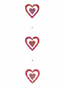 バレンタイン 結婚式 装飾デコレーション 180cm クリアレッドダブルハートガーランド [DIHA9002]