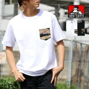 67fb412b0a8c0 Tシャツ メンズ 半袖 夏 BEN DAVIS 迷彩 ポケット付き tシャツ カモフラ ストリート アメカジ