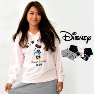 送料無料 Disney パーカー プルパーカー カットソー レディース レディースファッション 部屋着 スウェット ミニー キャラクター ペアル