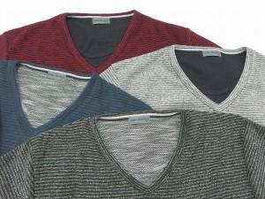 【送料無料】【大きいサイズ】 メンズ Tシャツ 長袖 Vネック キングサイズ 2L 3L 4L 5L マルカワ ブークレー きれいめ シンプル 清潔感