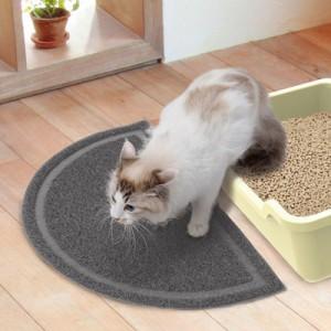 ペティオ necoco 猫トイレマット グレー