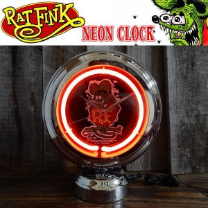 Rat Fink ラットフィンク ネオンクロック NEON CLOCK 置き時計 RAF502
