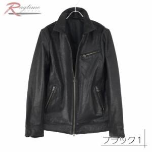 レザージャケット メンズ 本革 レザージャケット ライダースジャケット 山羊 革ジャン ゴート CWN51118L