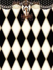 送料無料有/[APPAREL]/マキシマム/黒猫アリスのマジカル☆ダイヤ柄の不思議な懐中時計ベスト ブラック x ホワイト (F) ゴスロリ・パンク/