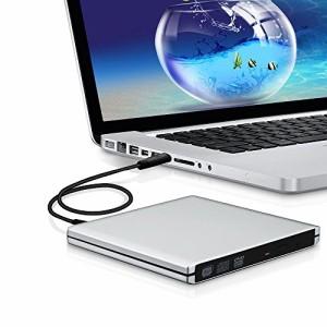 外付けドライブ改良版 Bengoo USB3.0 外付けスロット ポータブルドライブ DVDドライブ DVD VCD CD RWドライブ 超スリム SuperDri
