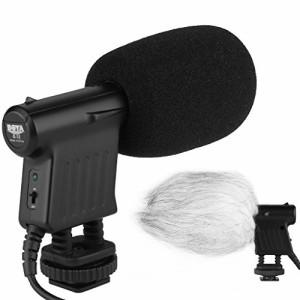 BOYA 指向性コンデンサーマイク 高性能 高音質 外部マイク 一眼レフ カメラ DV 対応 ブラック BY-VM01