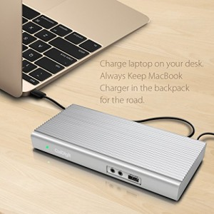CalDigit USB-C Dock ドッキングステーション:MacBook, 2017, 2016 MacBook Pro, 2017 iMac対応 / HDMI, DisplayPort, Lan, Aud