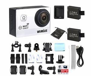 WIMIUS Q2 Wifi 1080P  防水 ウェアラブルカメラ 16GBTFカード付属