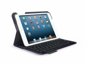 LOGICOOL ウルトラスリム キーボード フォリオ for iPad mini マットパープル TM725MP